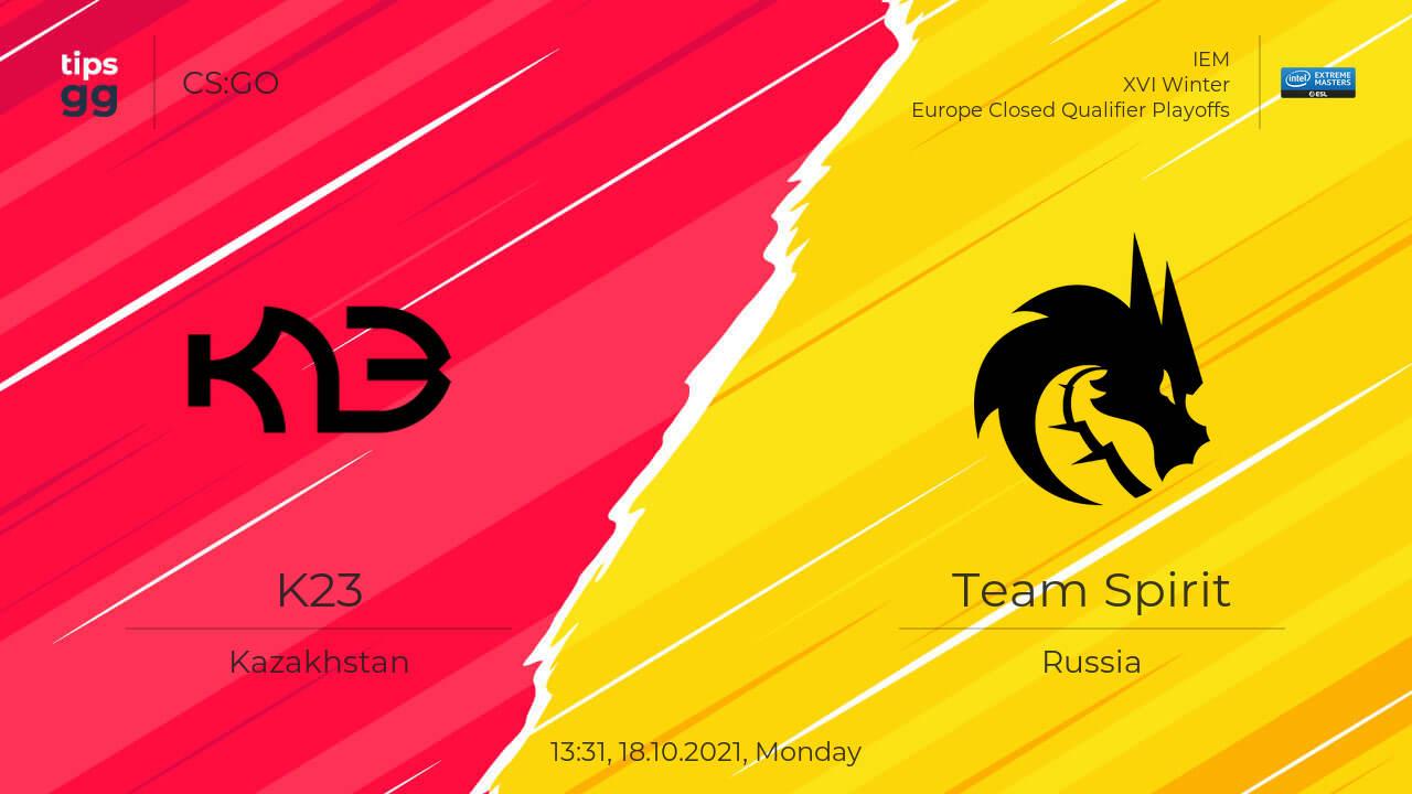 K23 vs Team Spirit – 18.10.2021.  Mecz CS:GO, IEM XVI Zima